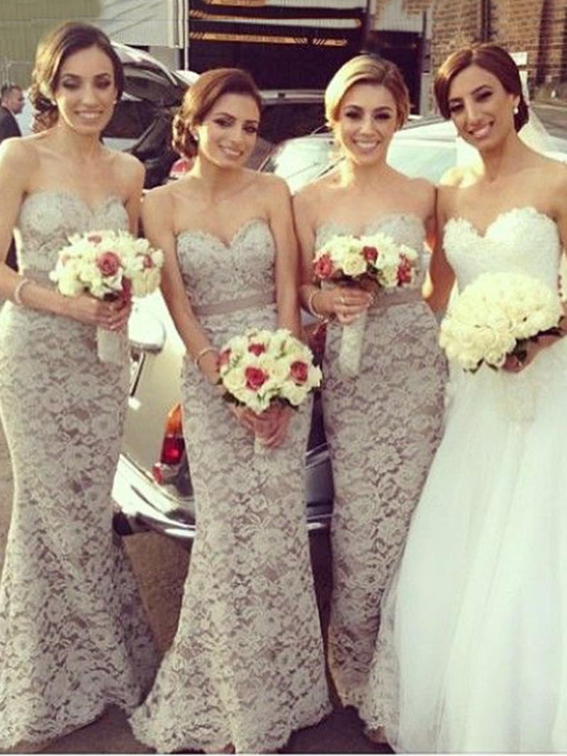 Ericdress Mermaid Sashes Lace Bridesmaid Dress