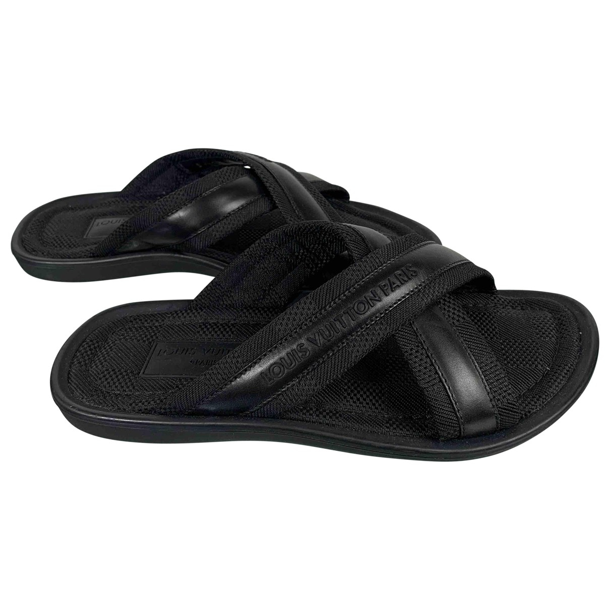 Louis Vuitton \N Sandalen in  Schwarz Leinen