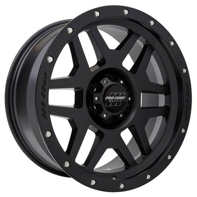 Pro Comp 41 Series Phaser, 20x9 Wheel with 6 on 5.5 Bolt Pattern - Satin Black with Stainless Steel Bolts - 5041-298345