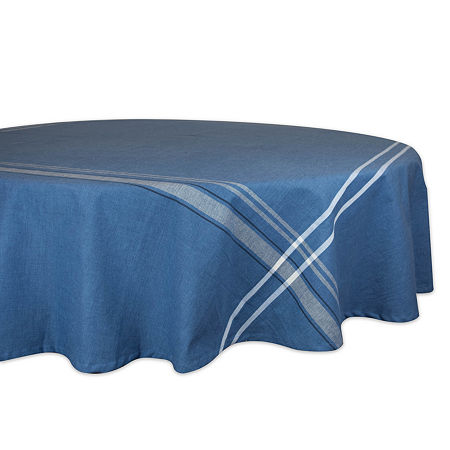 Design Imports French Chambray Tablecloth, One Size , Blue
