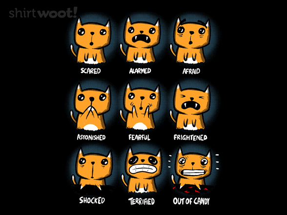 Scaredy Cat T Shirt