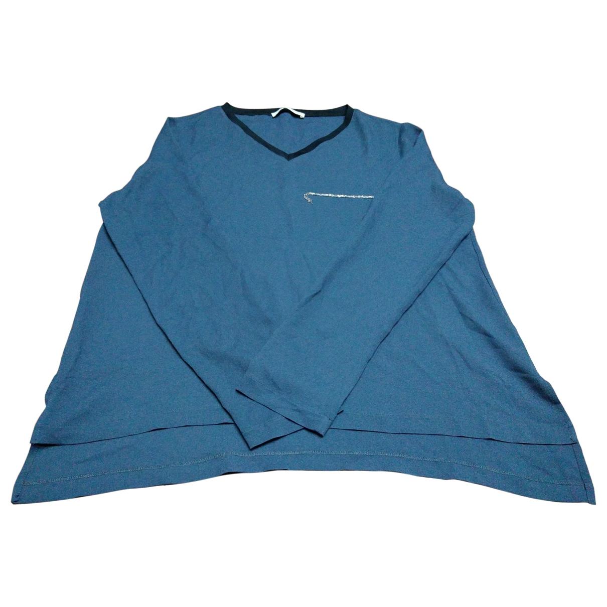 Fabiana Filippi \N Blue Silk dress for Women 42 IT