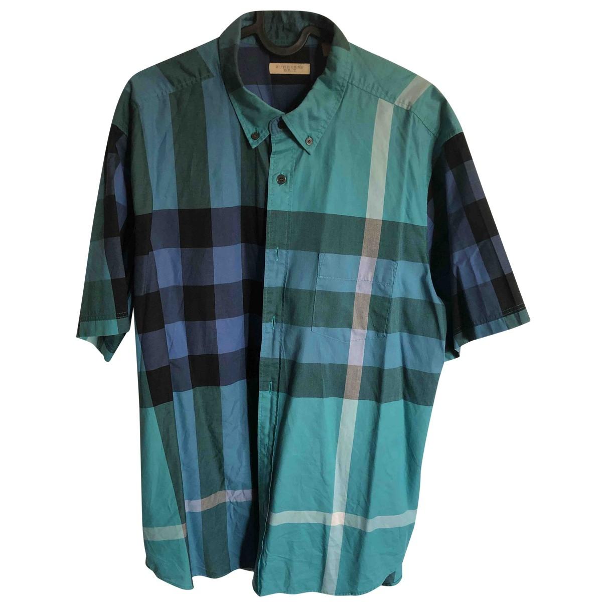 Burberry \N Green Cotton Shirts for Men XXL International