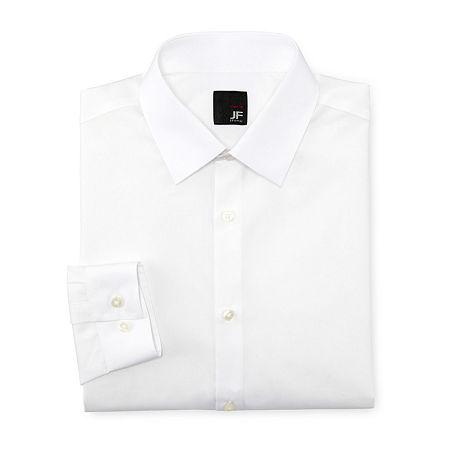 JF J. Ferrar Easy-Care Dress Shirt - Super Slim, 16-16.5 34-35, White