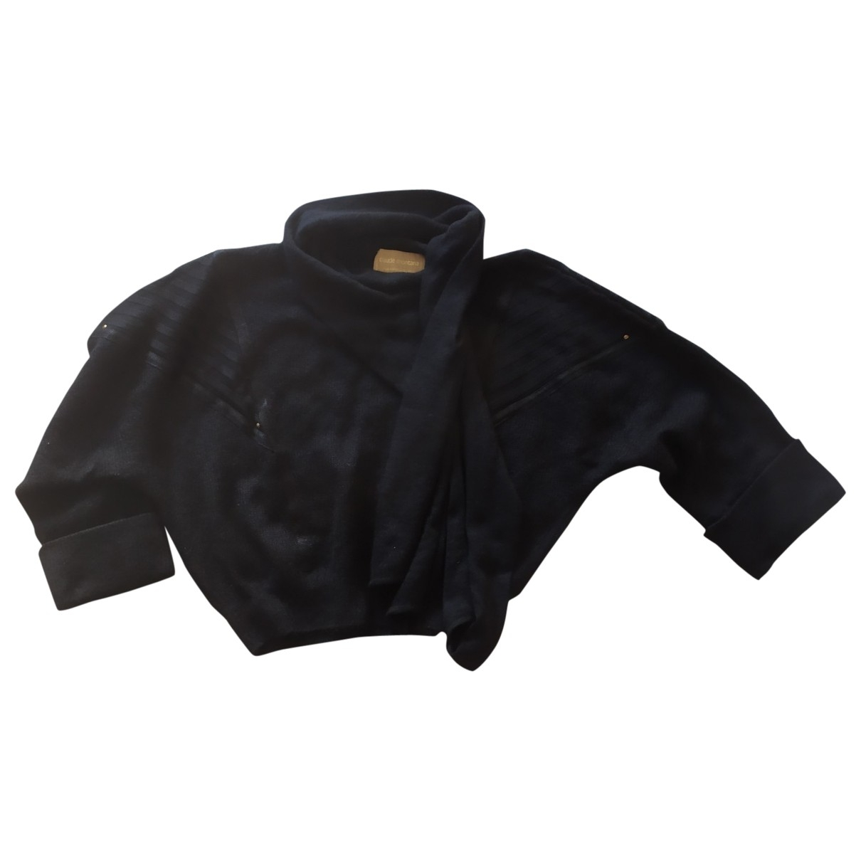 Claude Montana \N Pullover in  Schwarz Wolle