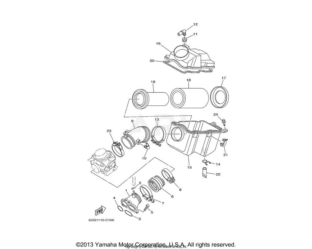 Yamaha OEM 5KM-13596-00-00 JOINT, CARBURETOR 2