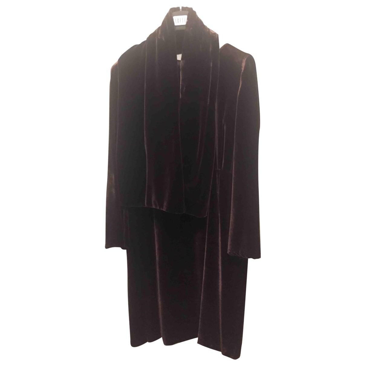 Marella - Robe   pour femme en velours - marron