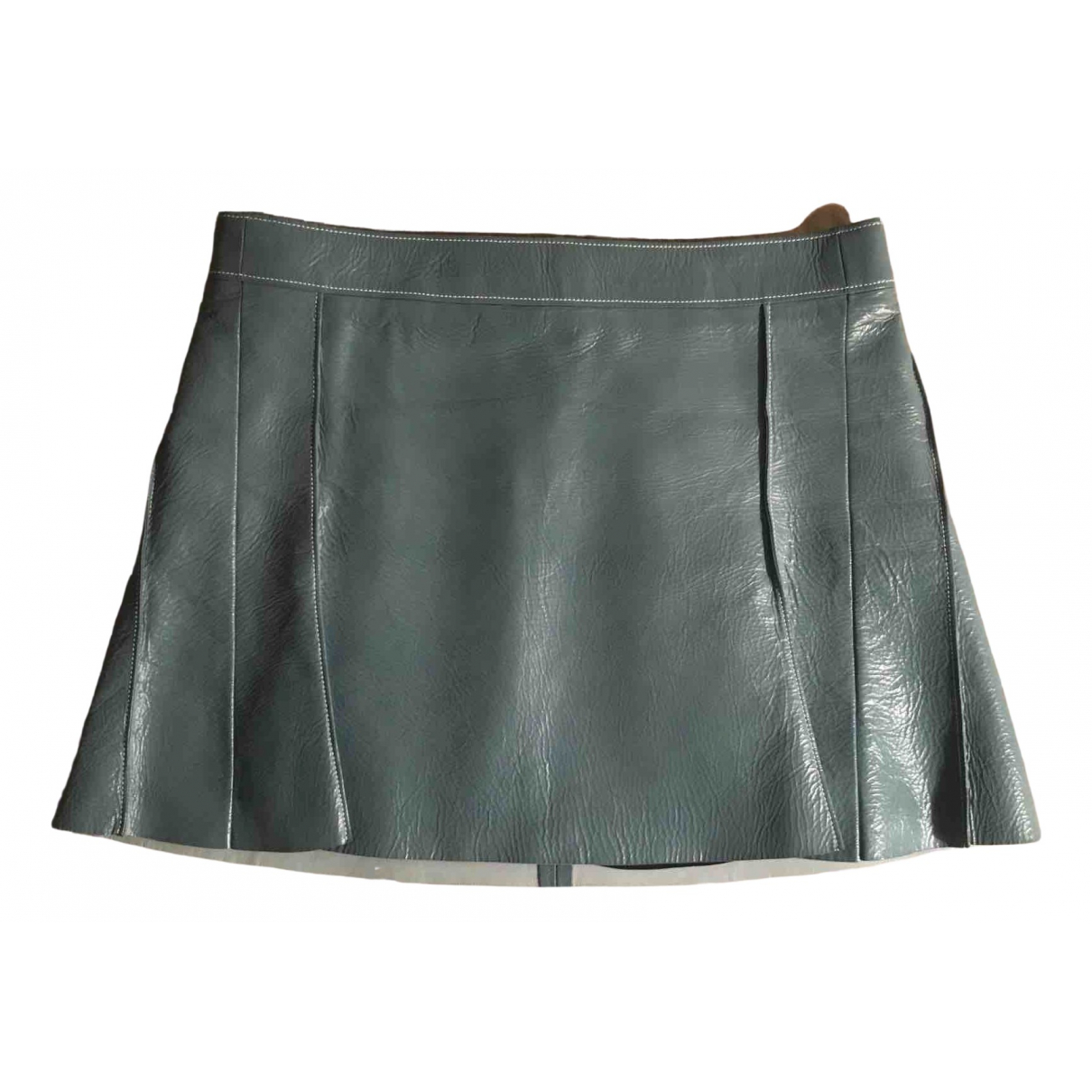 Chloé \N Blue Leather skirt for Women 38 FR