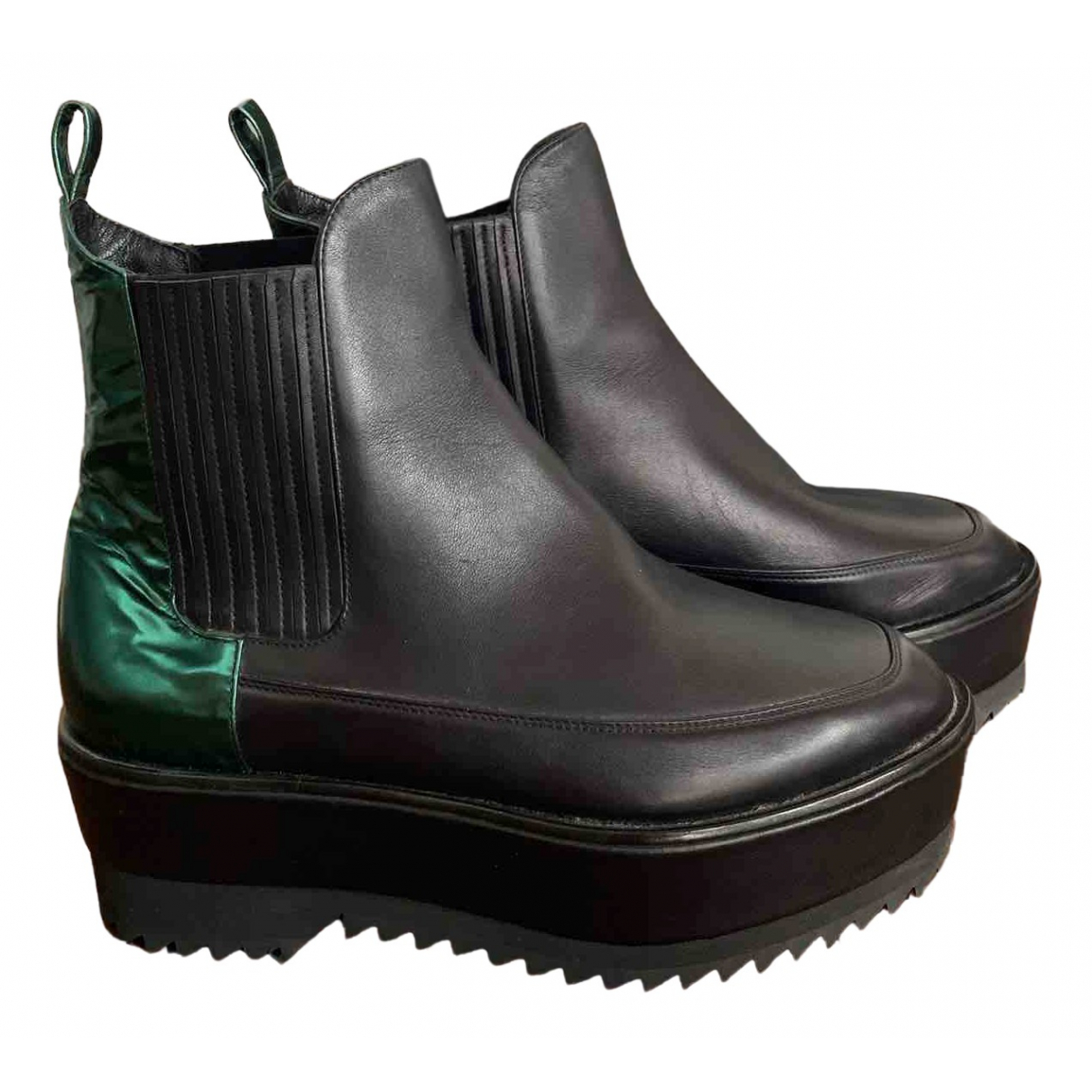 Damir Doma N Black Leather Ankle boots for Women 38 EU