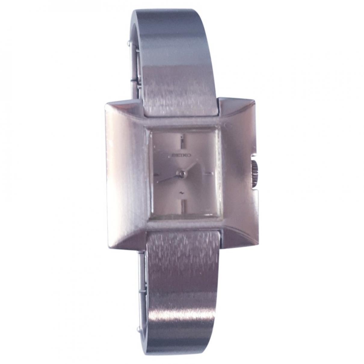 Seiko \N Silver Steel watch for Women \N