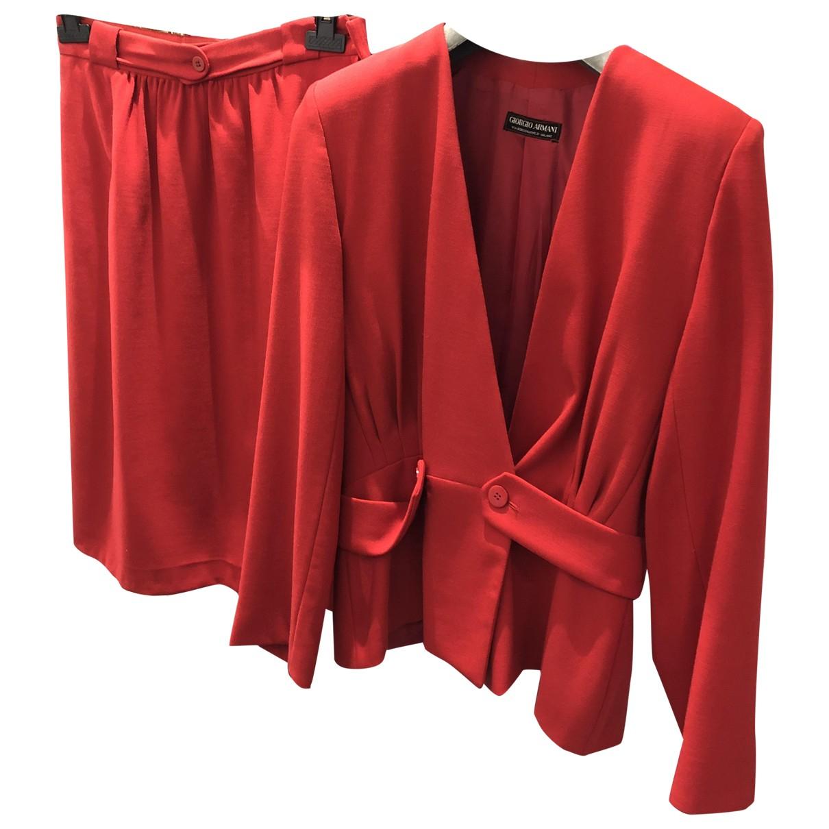 Giorgio Armani - Robe   pour femme en laine - rouge