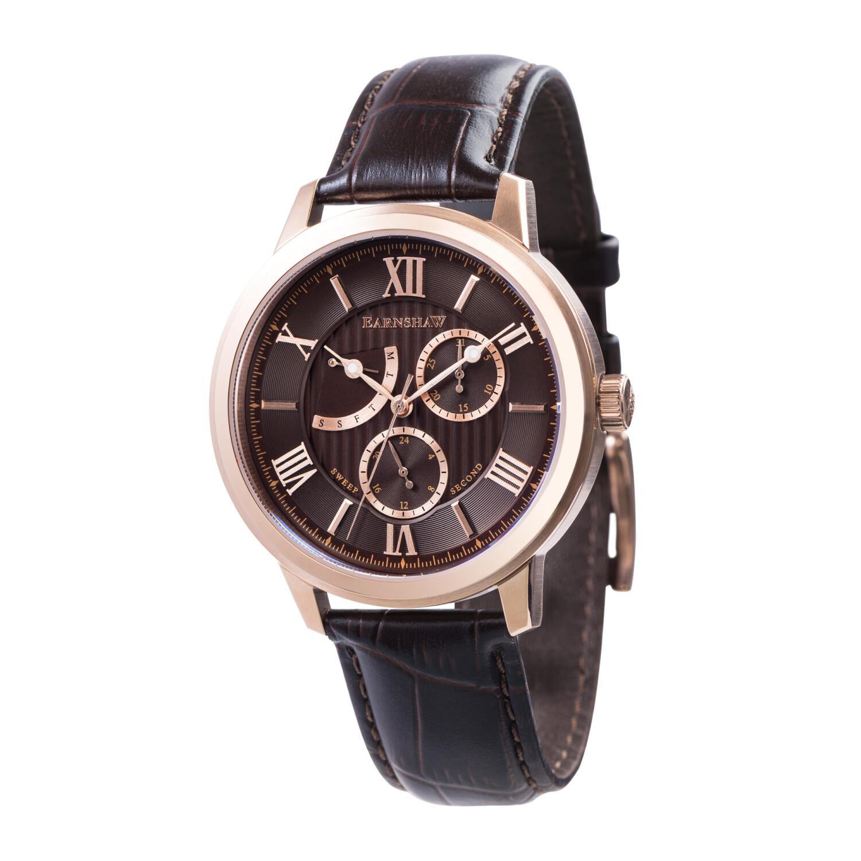 Thomas Earnshaw Men's Cornwall Quartz Renegade ES-8060-04 Brown Leather Japanese Fashion Watch