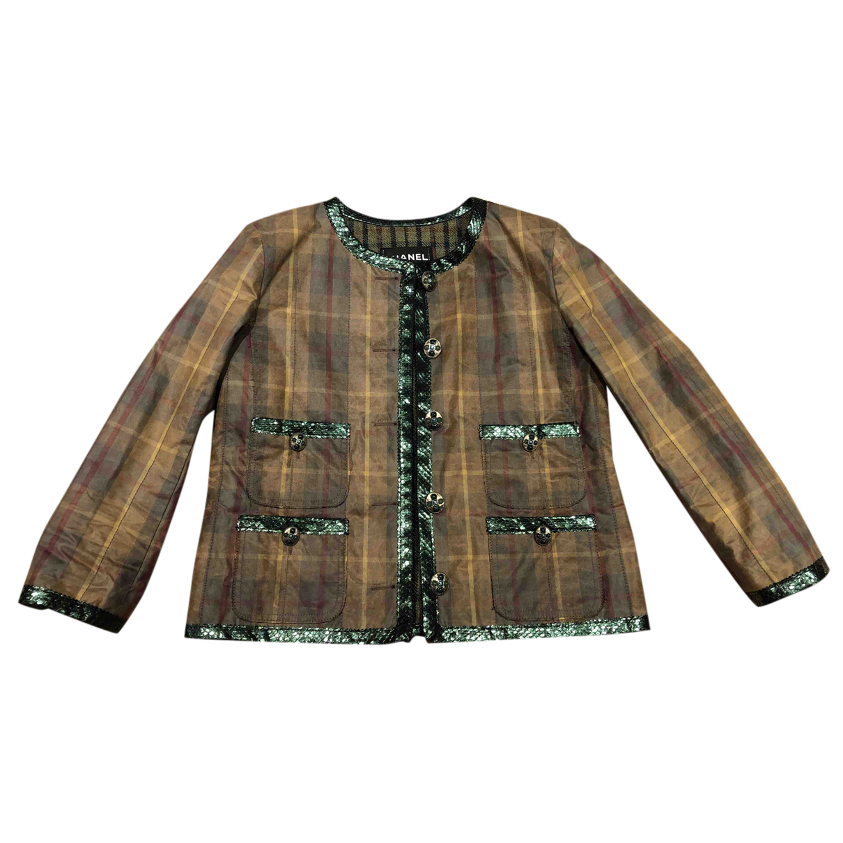 Chanel N Green Cotton jacket for Women 40 FR