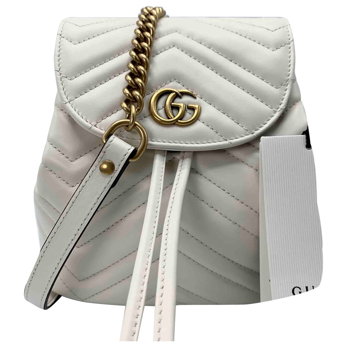 Gucci Marmont Ecru Leather backpack for Women N