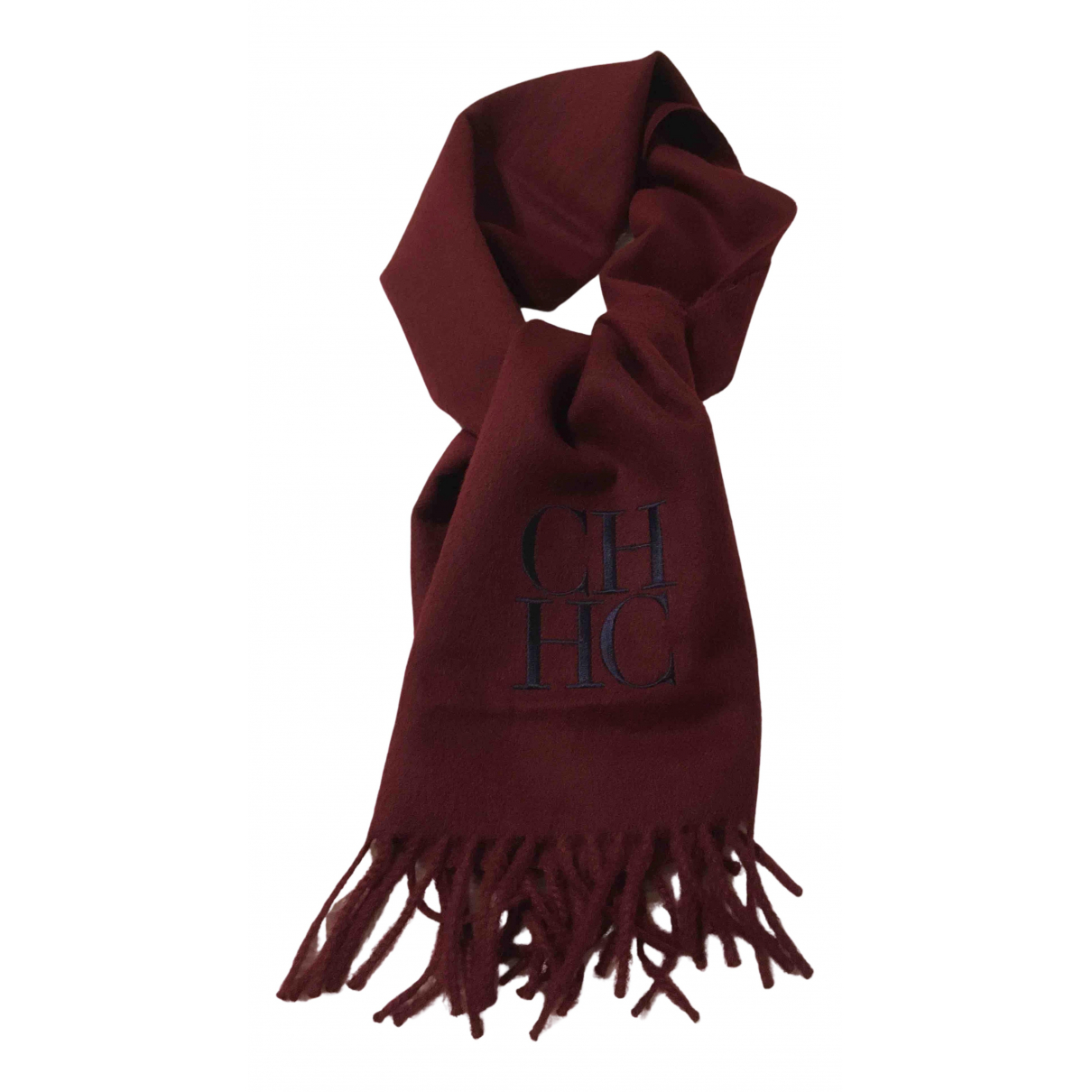 Carolina Herrera N Burgundy Wool scarf for Women N