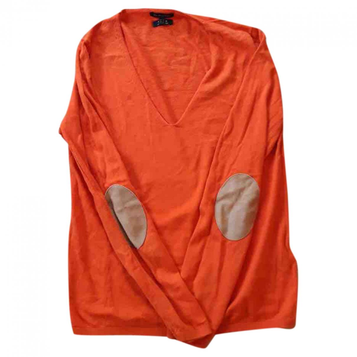 Massimo Dutti \N Pullover in  Orange Seide