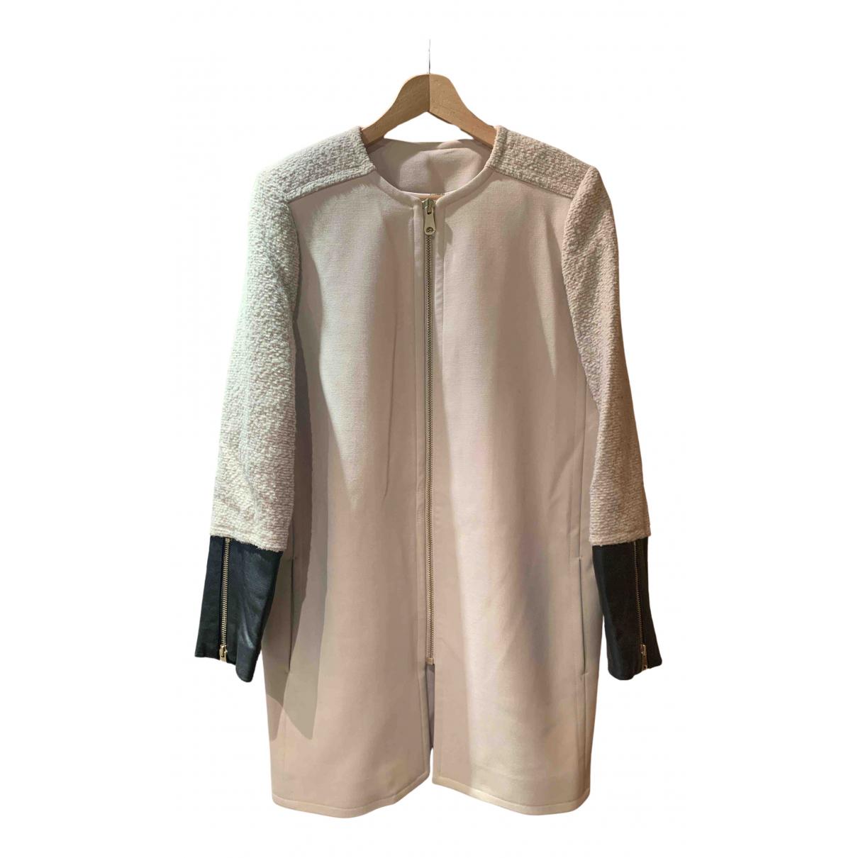 Club Monaco - Manteau   pour femme en laine - beige