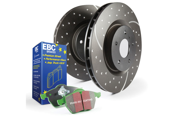 EBC Brakes S3KR1134 S3KR Kit Number REAR Disc Brake Pad and Rotor Kit DP63031+GD7663 Jeep Cherokee Rear 2.4L 4-Cyl 2014-2021