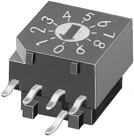 KNITTER-SWITCH 10 Way Through Hole Rotary Switch, Rotary Coded Actuator