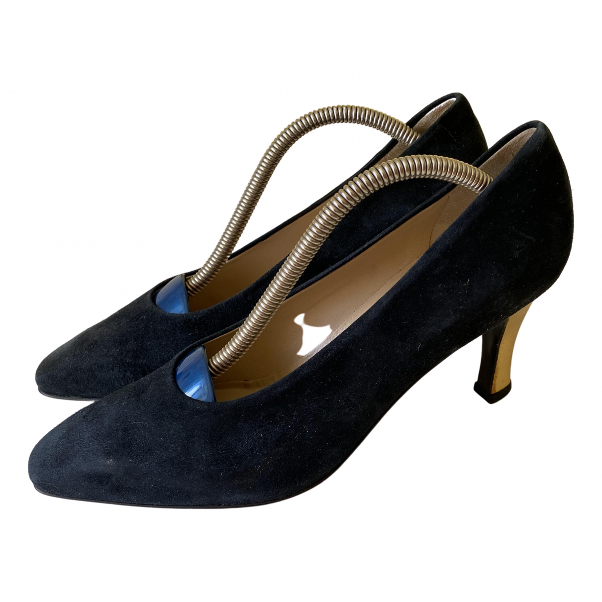 Laurel \N Black Leather Heels for Women 41 EU