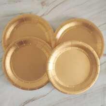 8pcs Disposable Round Plate