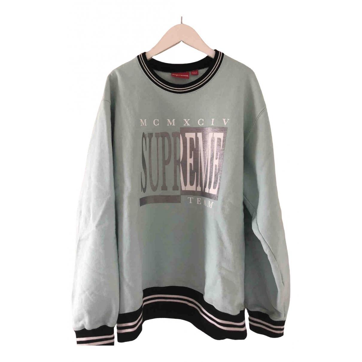 Supreme \N Pullover.Westen.Sweatshirts  in  Tuerkis Baumwolle