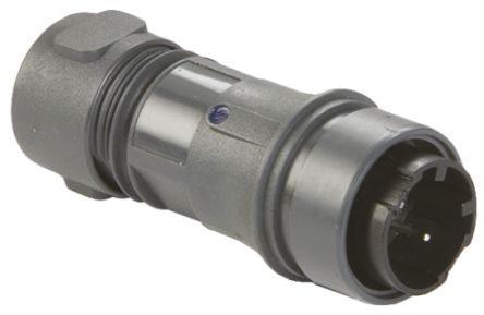 Bulgin Connector, 2 contacts Cable Mount Plug, Screw IP66, IP68, IP69K