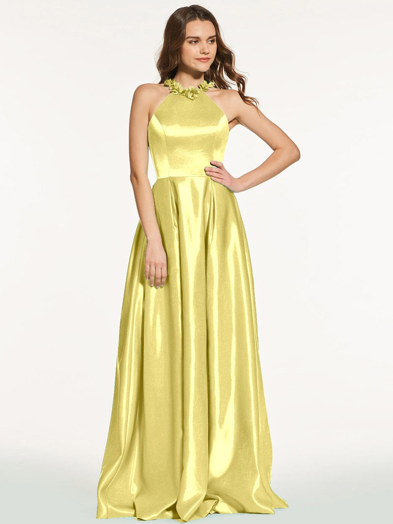 Ericdress A Line Scoop Neck Floor Length Long Prom Dress