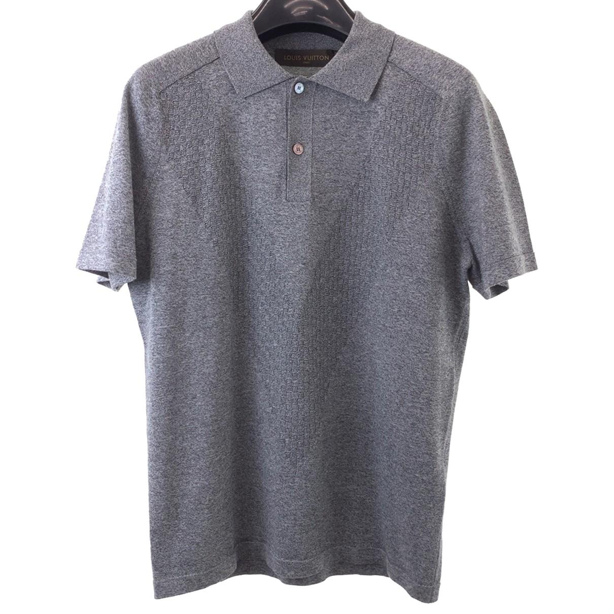 Louis Vuitton - Polos   pour homme en coton - gris