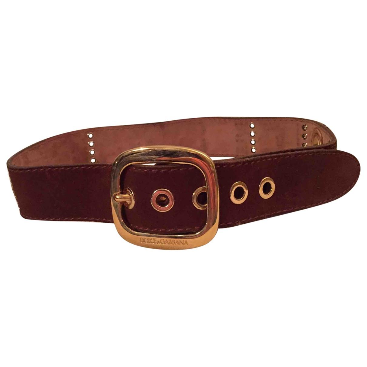 Dolce & Gabbana \N Brown Suede belt for Women M International