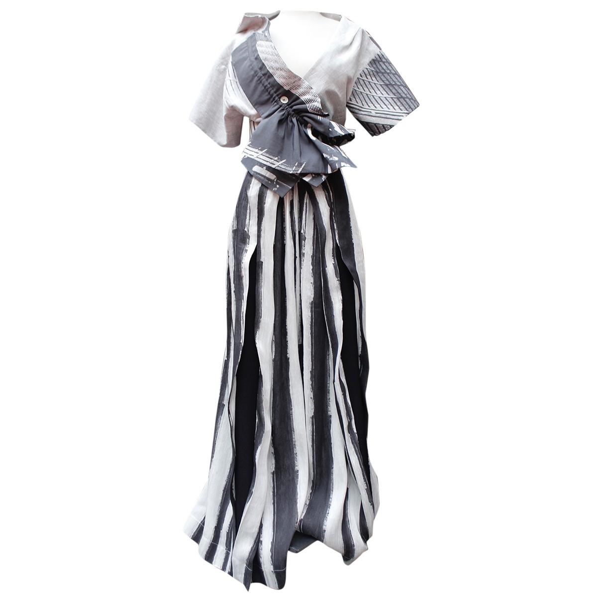 John Galliano \N Grey Cotton dress for Women 40 FR