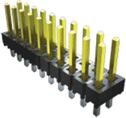 Samtec , TSW, 2 Way, 2 Row, Straight PCB Header