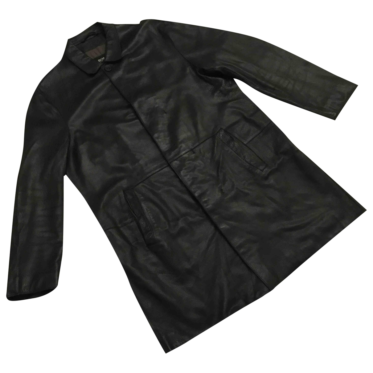 Boss \N Black Leather jacket  for Men L International