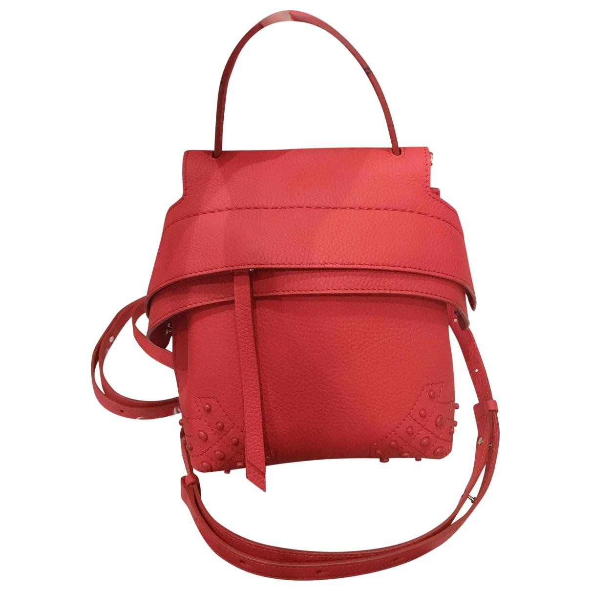 Tods - Sac a dos   pour femme en cuir - rouge