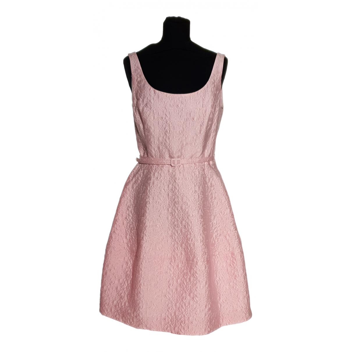 Oscar De La Renta \N Pink Cotton dress for Women 8 US