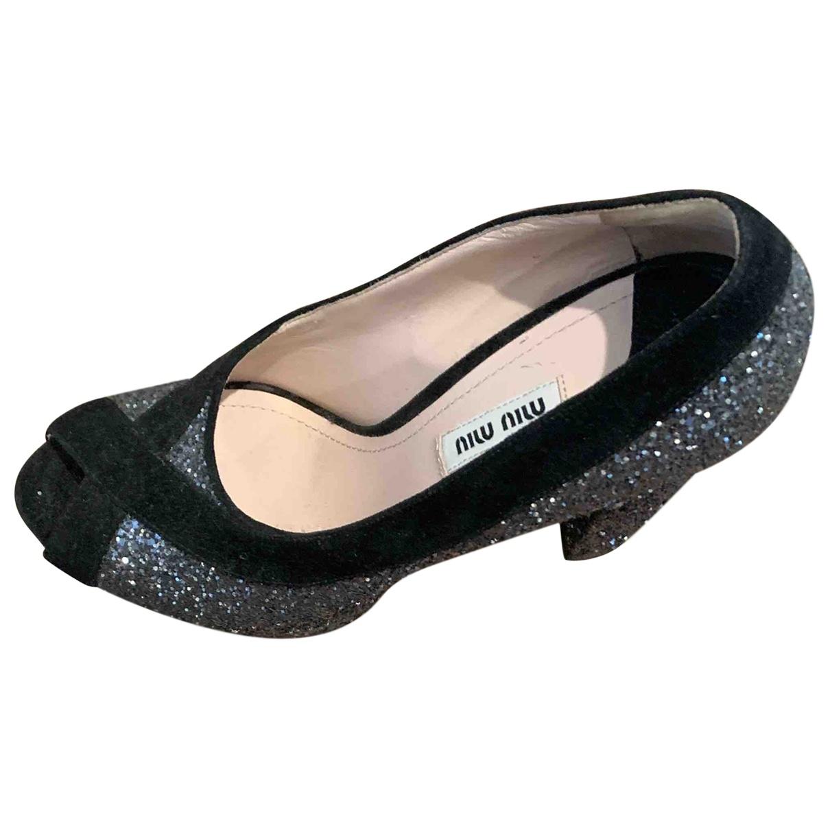 Miu Miu \N Grey Leather Heels for Women 40 EU