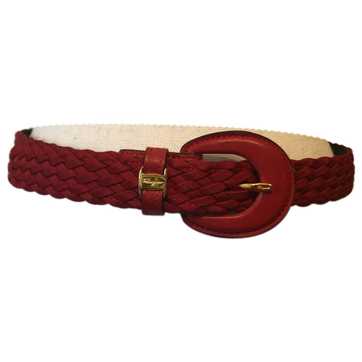 Cinturon de Lona Salvatore Ferragamo
