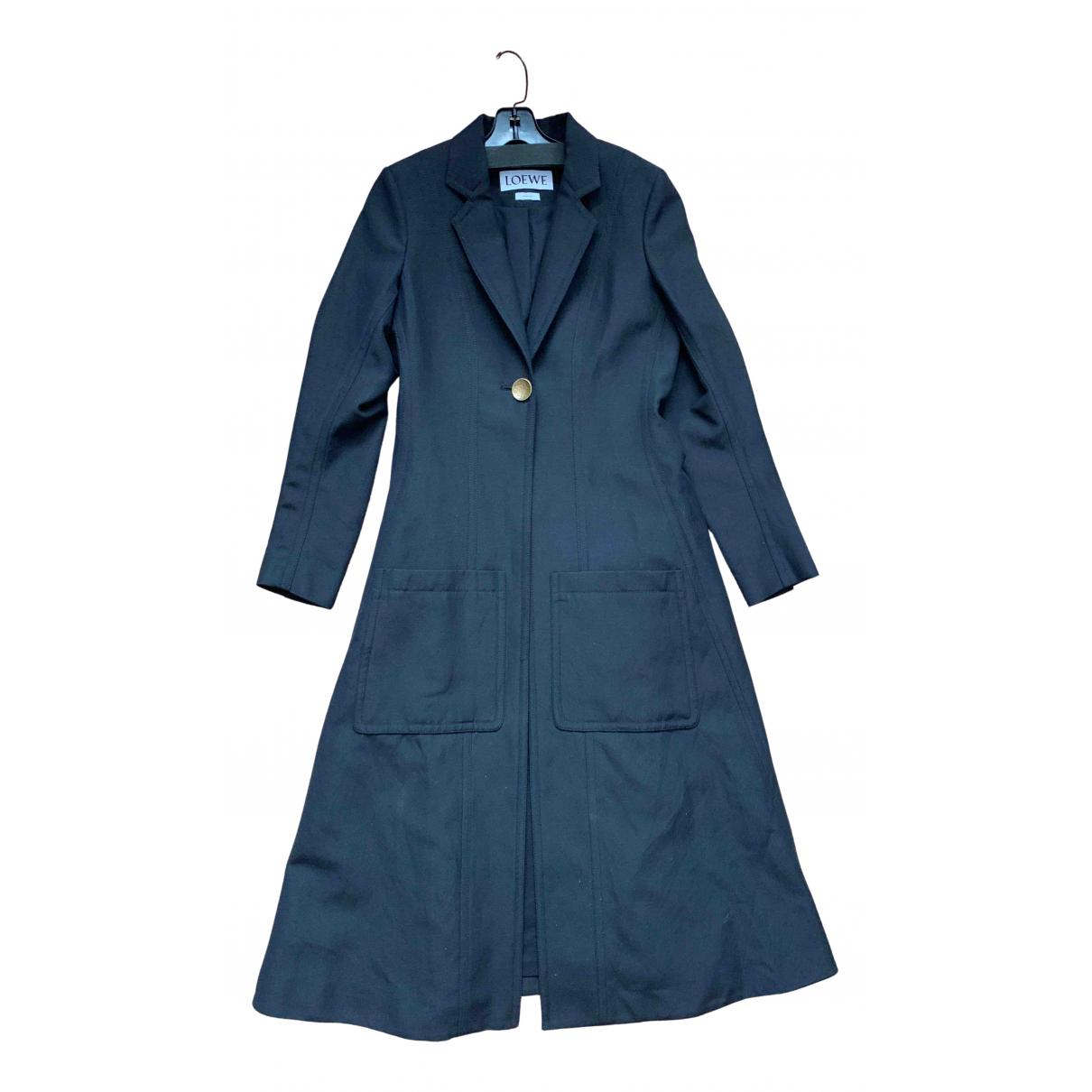 Loewe - Manteau   pour femme en laine - noir