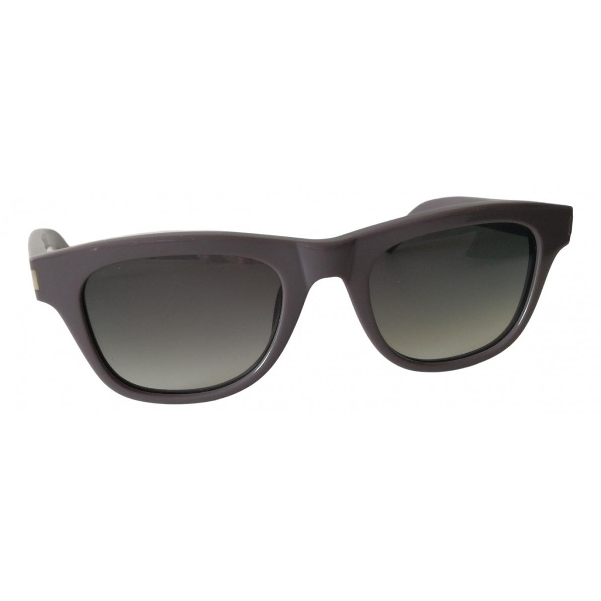 Saint Laurent \N Sonnenbrillen in  Grau Kunststoff
