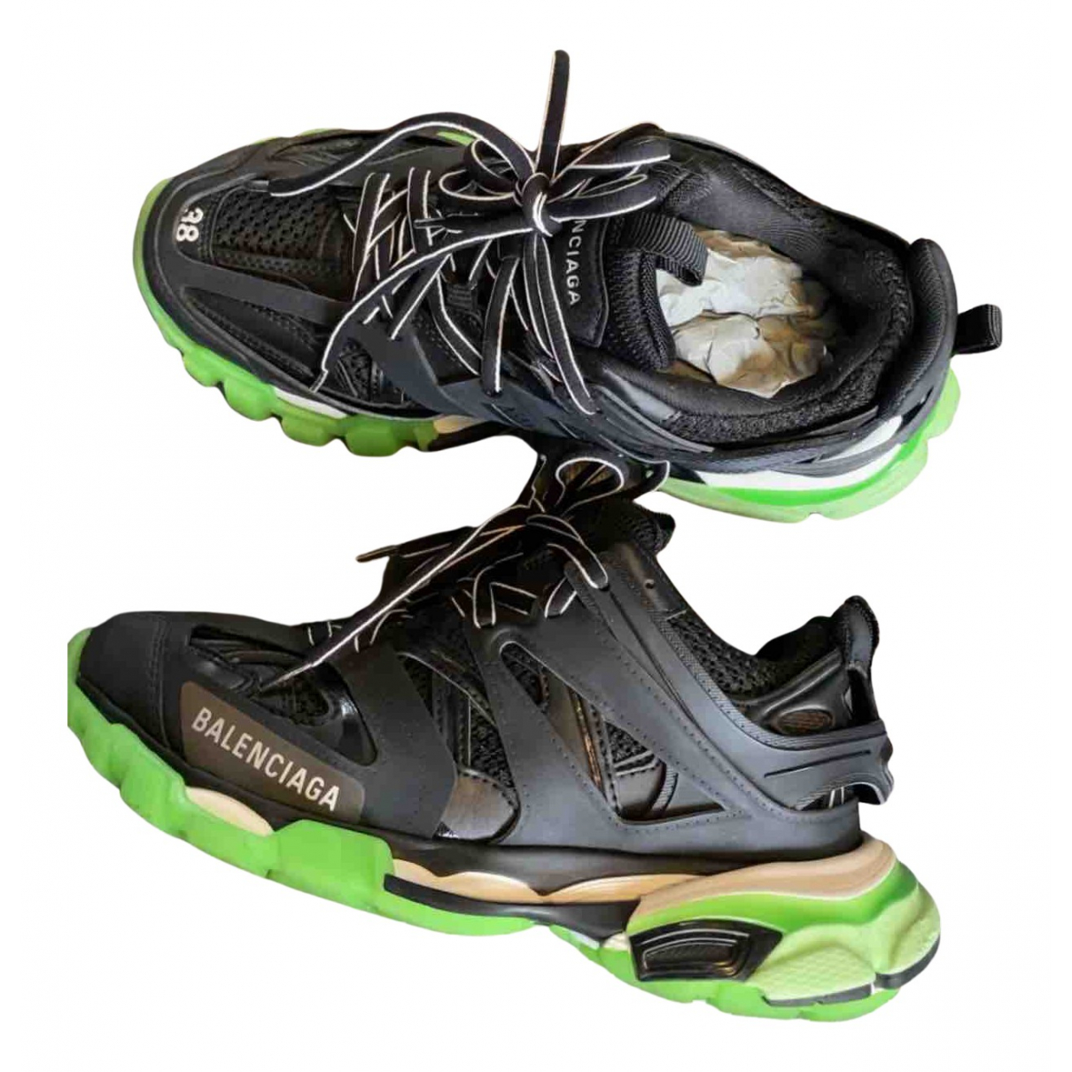 Balenciaga Track Sneakers in  Schwarz Leder