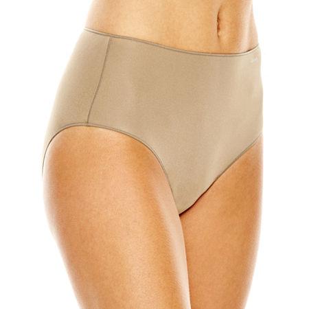 Jockey No Panty Line Promise Tactel Microfiber Brief Panty 1372, 6 , Beige