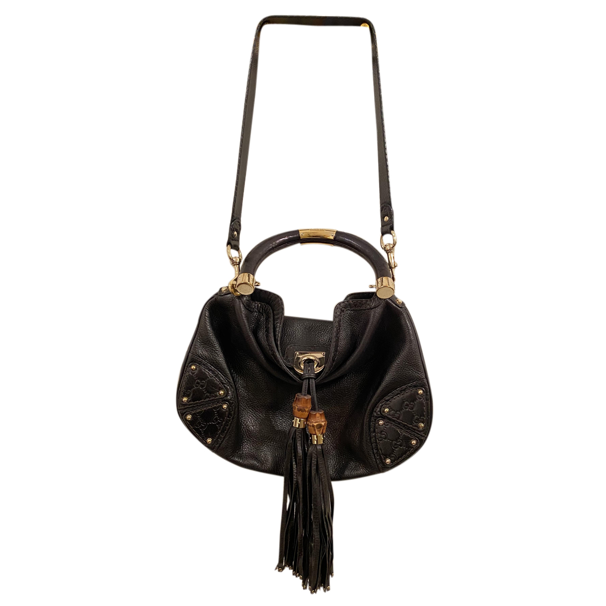 Gucci Indy Black Leather handbag for Women N