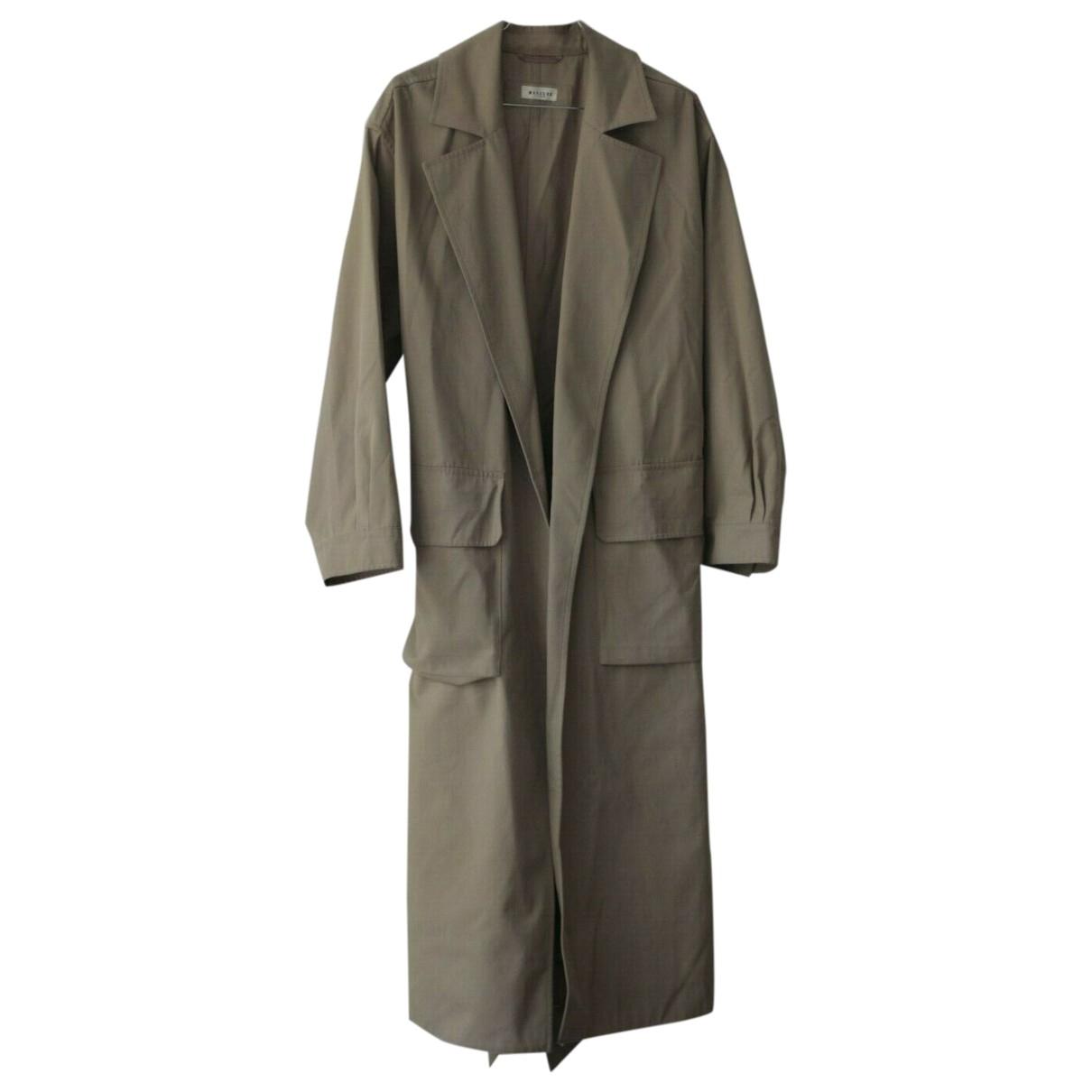 Masscob \N Beige Cotton coat for Women 38 FR