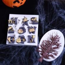 2 piezas molde de chocolate de halloween