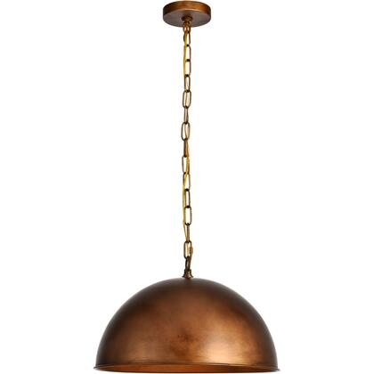 LD6013D15BR Merce 1 Light 15 inch Manual Brass Pendant Ceiling
