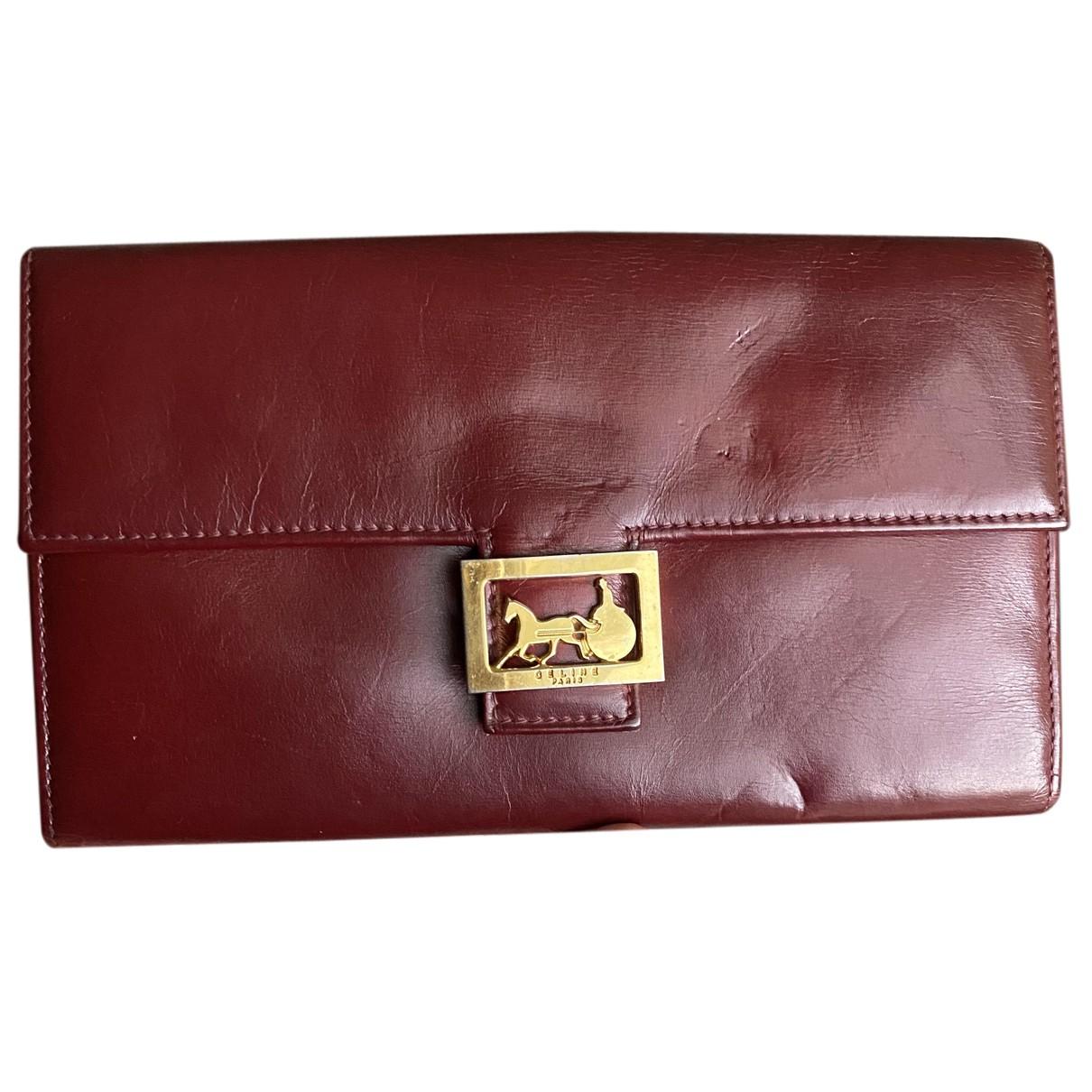 Celine N Burgundy Leather Purses, wallet & cases for Women N
