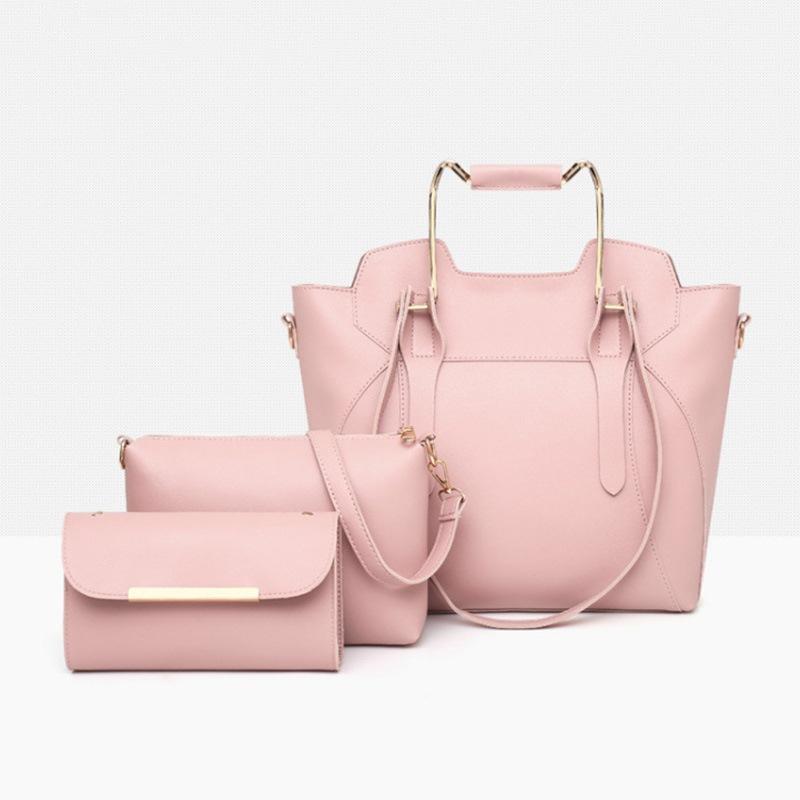 Ericdress Casual Plain PU Soft Bag Set