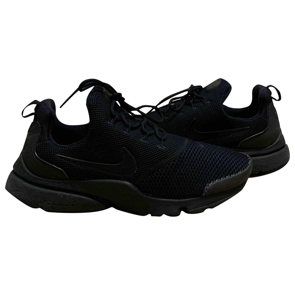 Nike - Baskets Air Presto pour femme en toile - noir