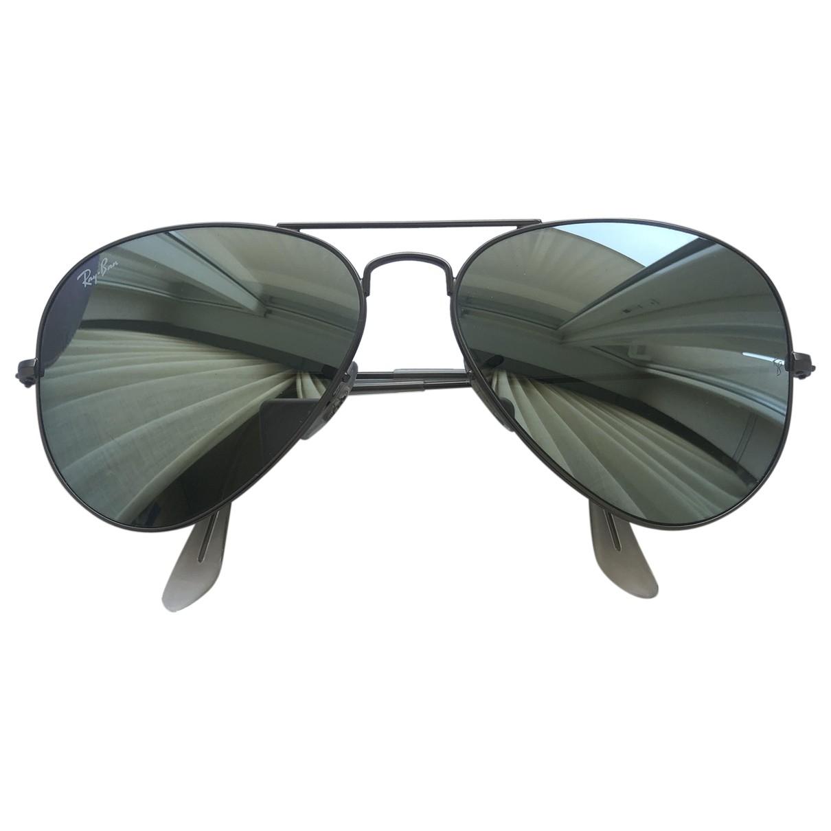 Ray-ban Aviator Sonnenbrillen in  Anthrazit Metall