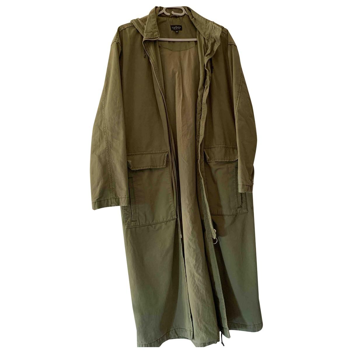 Topshop - Veste   pour femme en coton - vert
